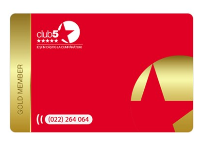 Card Club5* Gold - Card de fidelitate Club5* Gold