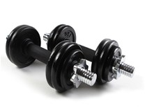 15kg Black Painted Dumbbell Set - Сет тегови