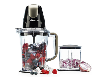 DELIMANO ASTORIA BLENDER 2IN1 BLACK - Blender 2 in 1 Delimano Astoria Black